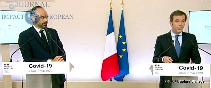 Edouard Philippe (Premier ministre) et Olivier Véran (Santé)