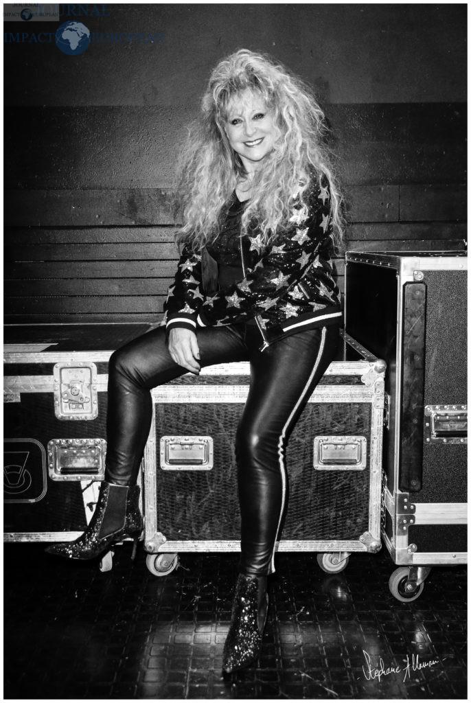 Sloane (Chantal Richard) en backstage lors de l avant premiere du film Stars 80, La Suite, realise et produit par Thomas Langmann et du concert donne a la suite de la projection a la veille de la sortie nastionale, a l Olympia Bruno Coquatrix, le mardi 5 decembre 2017, a Paris, France, Europe