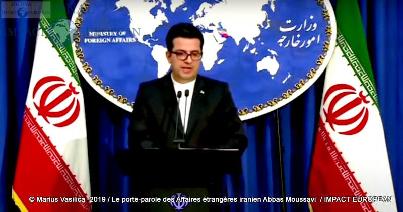 Le porte-parole des Affaires étrangères iranien Abbas Moussavi