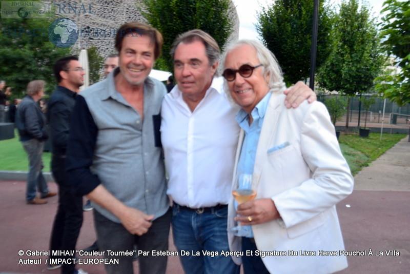 Marc SCALIA, le journaliste Hervé POUCHOL et Sylvain COLLARO