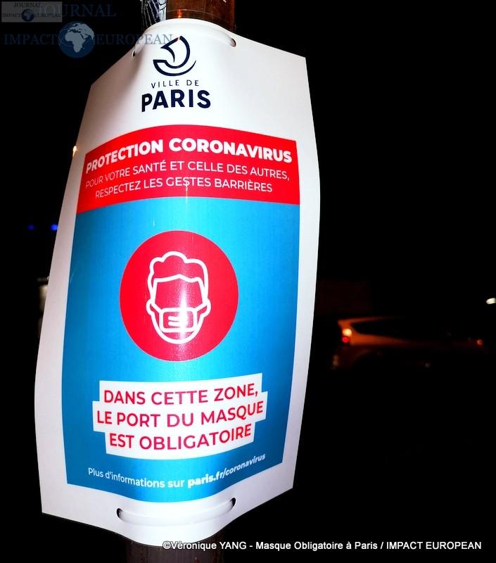 Port de masque obligatoire dans les rues du Paris