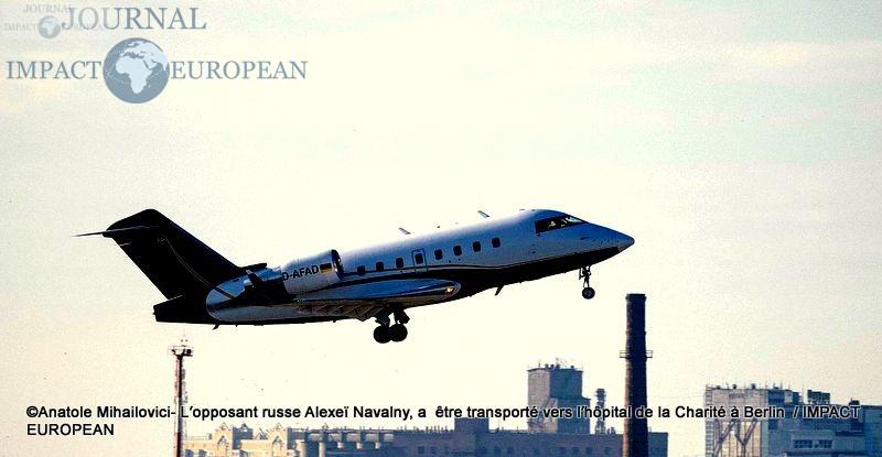 L'avion s'est envolé avec à son bord Alexeï Navalny