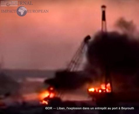 L'explosion dans un entrepôt au port à Beyrouth 2