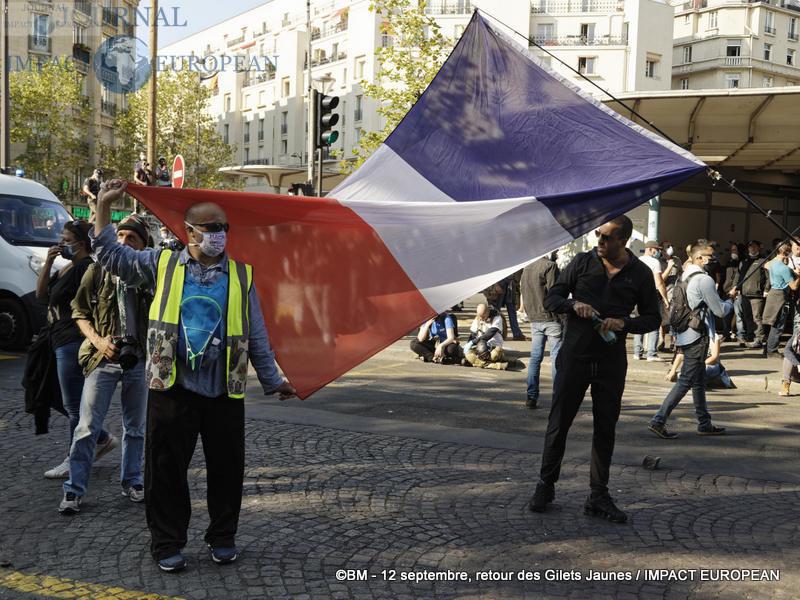 Manifestation des Gilets Jaunes du 12 septembre 2020 à Paris