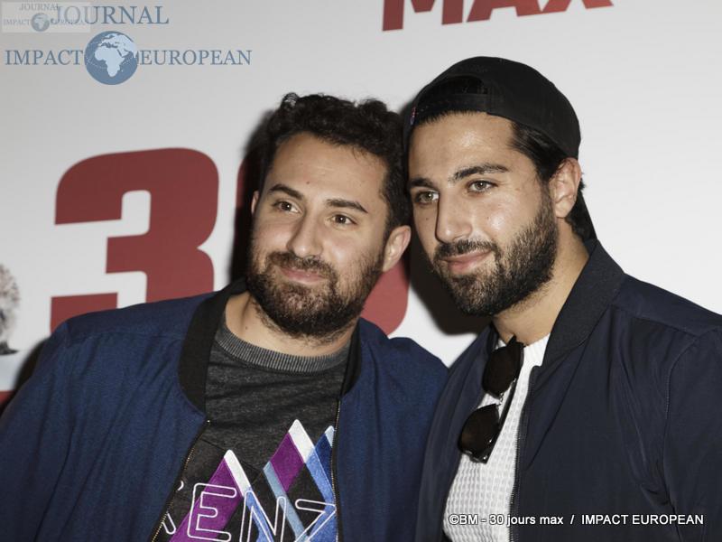 Bloggers Gary Derderian et Zaven Aslanian - Avant-première de 30 JOURS MAX à l'UGC Bercy