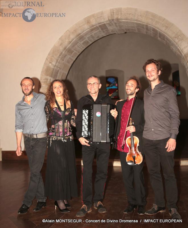 Divino Dromensa: Alexandre Zuanon, Estelle Panné, Vassili Tcheretsky, Nicolas « GREGORIEVICH » ORTIZ et Camille WOLFROM
