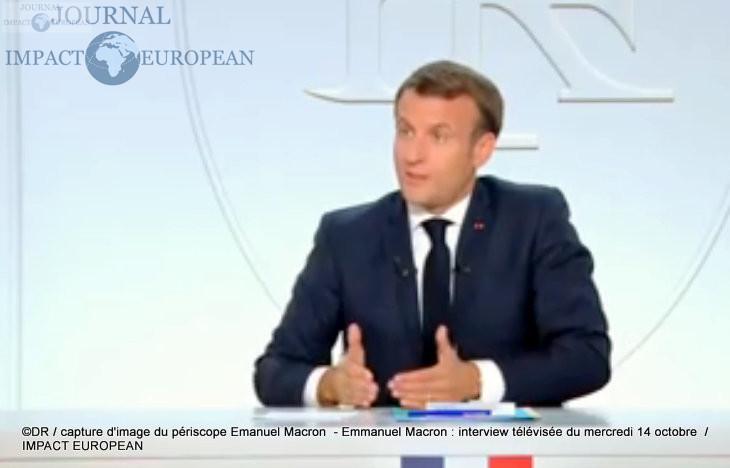 Emmanuel Macron : interview télévisée du mercredi 14 octobre