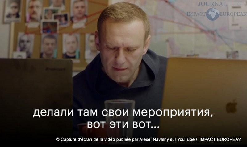 Capture d'écran de la vidéo publiée par Alexeï Navalny sur YouTube