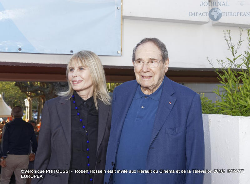 Candice Patou et  Robert Hossein / Photo Véronique PHITOUSSI - IMPACT EUROPEAN