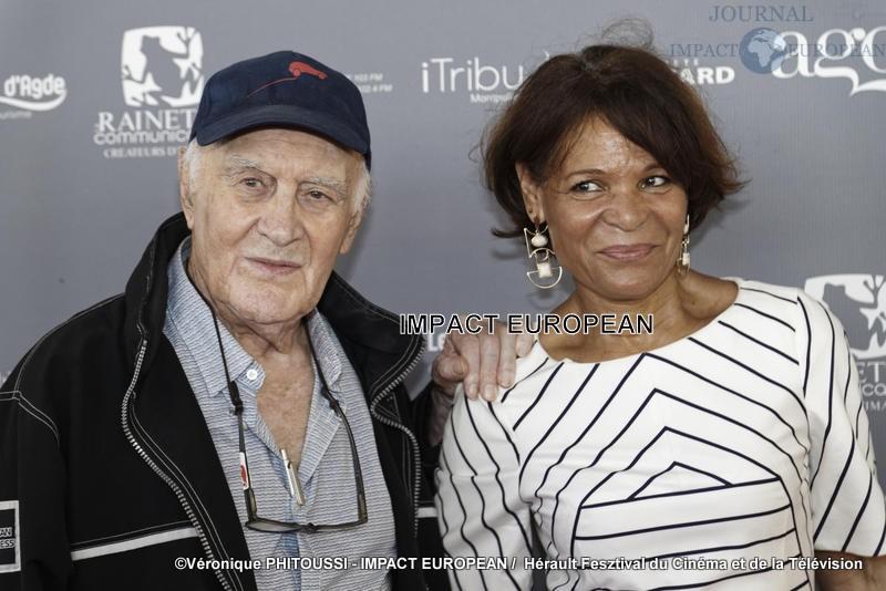 Remy Julienne et Justine Poulin - Les Herault du Cinéma et de la Télévision au Palais des Congrès du Cap d'Agde, 2019