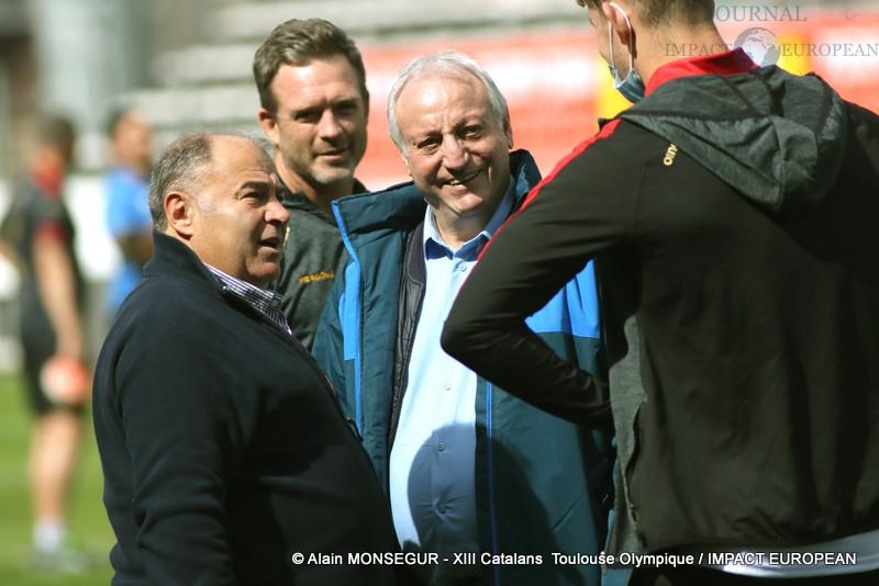 Le Président du Toulouse Olympique, Bernard Sarrazain