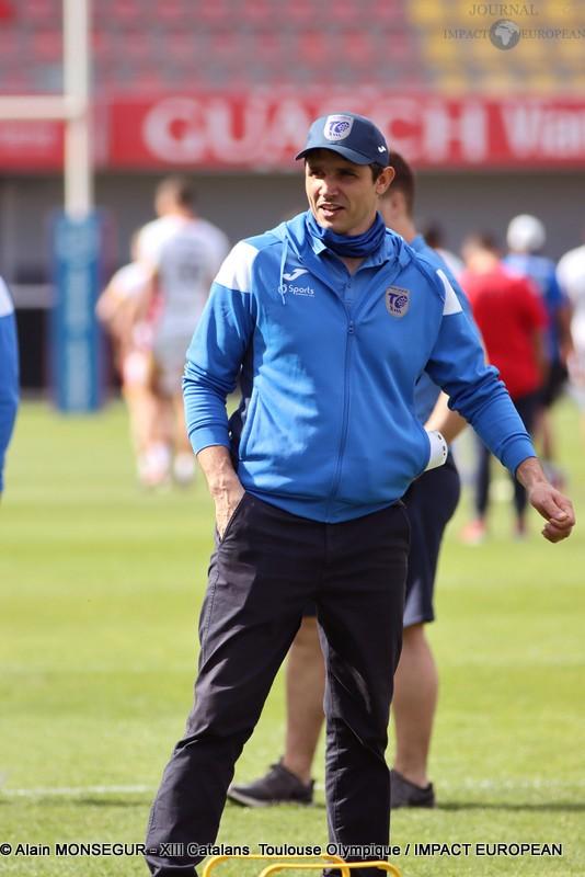 L'entraîneur du Toulouse Olympique, Sylvain Houles