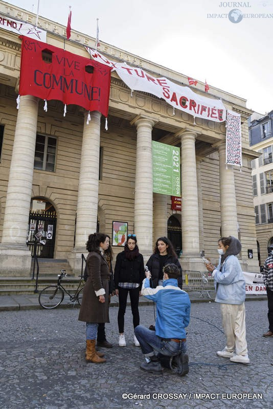 Occupation theatre de l'Odeon 01