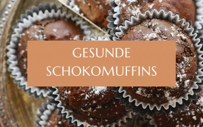 Gesunde Schokomuffins ohne Zucker und Mehl