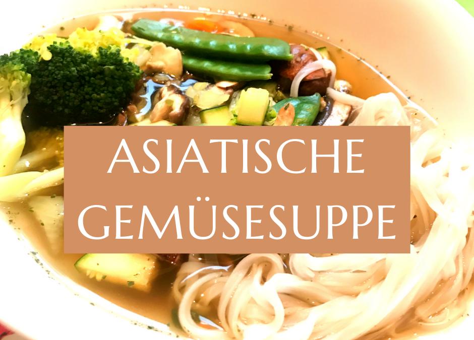 Gemüsesuppe mit asiatischem Touch