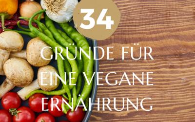 Meine 34 Gründe für eine vegane Ernährung