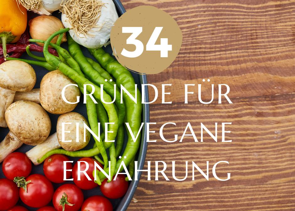 34 Gründe für eine vegane Ernährung