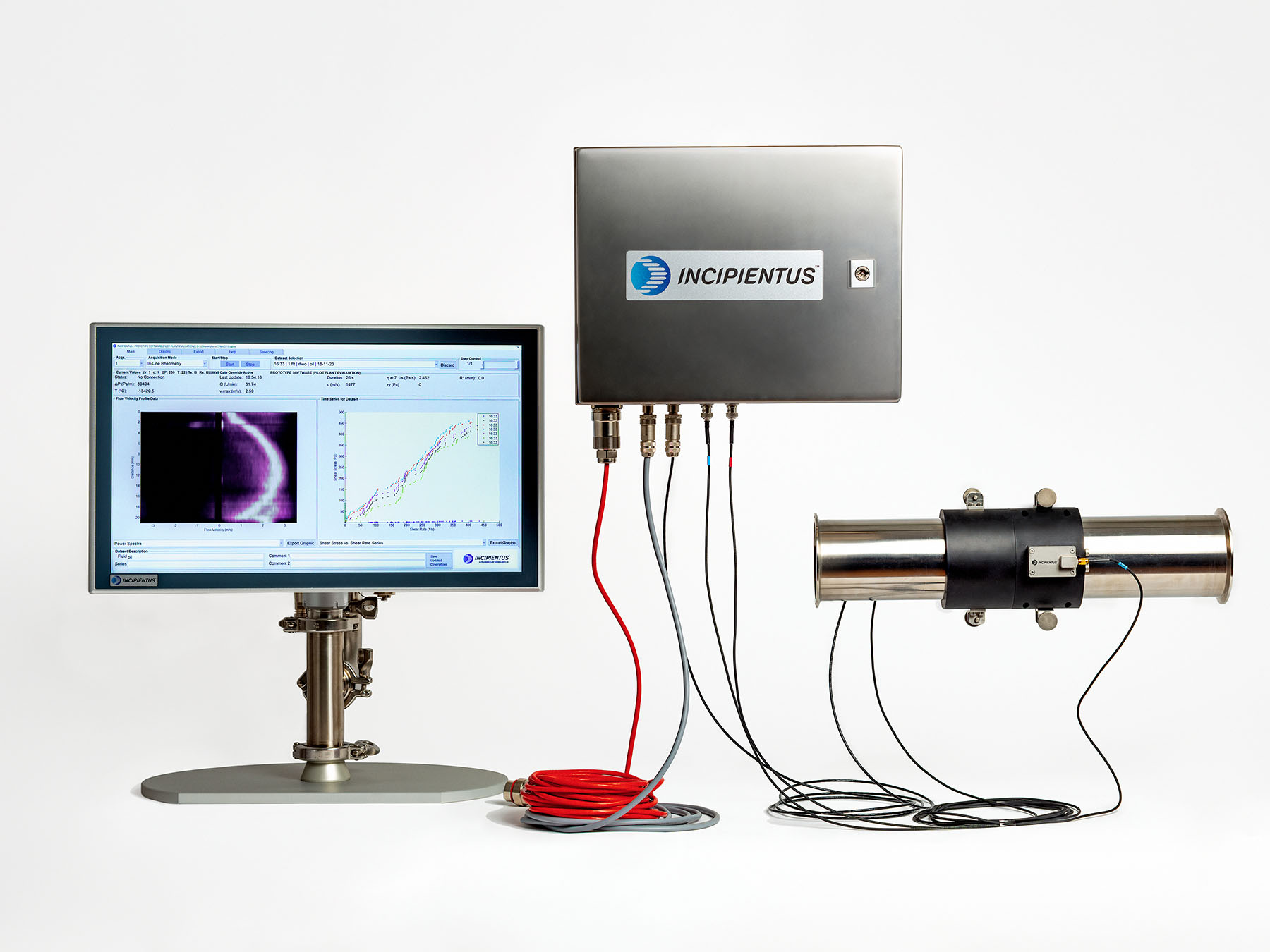 Advanced in-line rheometer