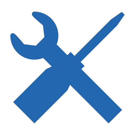 clipart of a wrench and a screwdriver in an X formation
