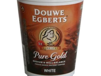 "DOUWE EGBERTS ""PURE GOLD"" COFFEE 12OZ RECYCLABLE DRINKS"