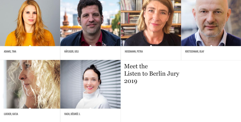 Meet the Jury: Listen to Berlin 2019