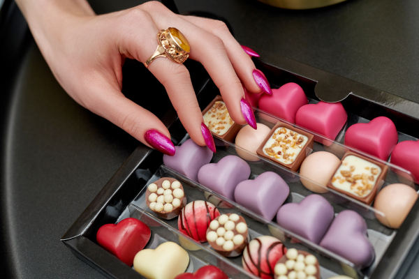 Pink Nails Glitter Indigo Gelpolish Be More Vegas Inspiration