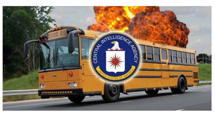 CIA laat per ongeluk explosieven achter in schoolbus