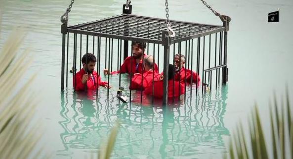 Nieuwe spectaculaire ISIS hoax video: Executies door verdrinking, explosief touw en raketwerpers