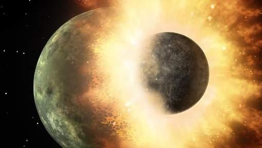 'Jonge aarde knalde frontaal op andere planeet'