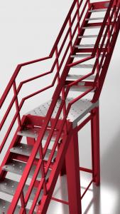 Escalera Galvanizada lacada
