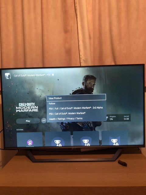 Call Of Duty Modern Warfare PS5 upgrade