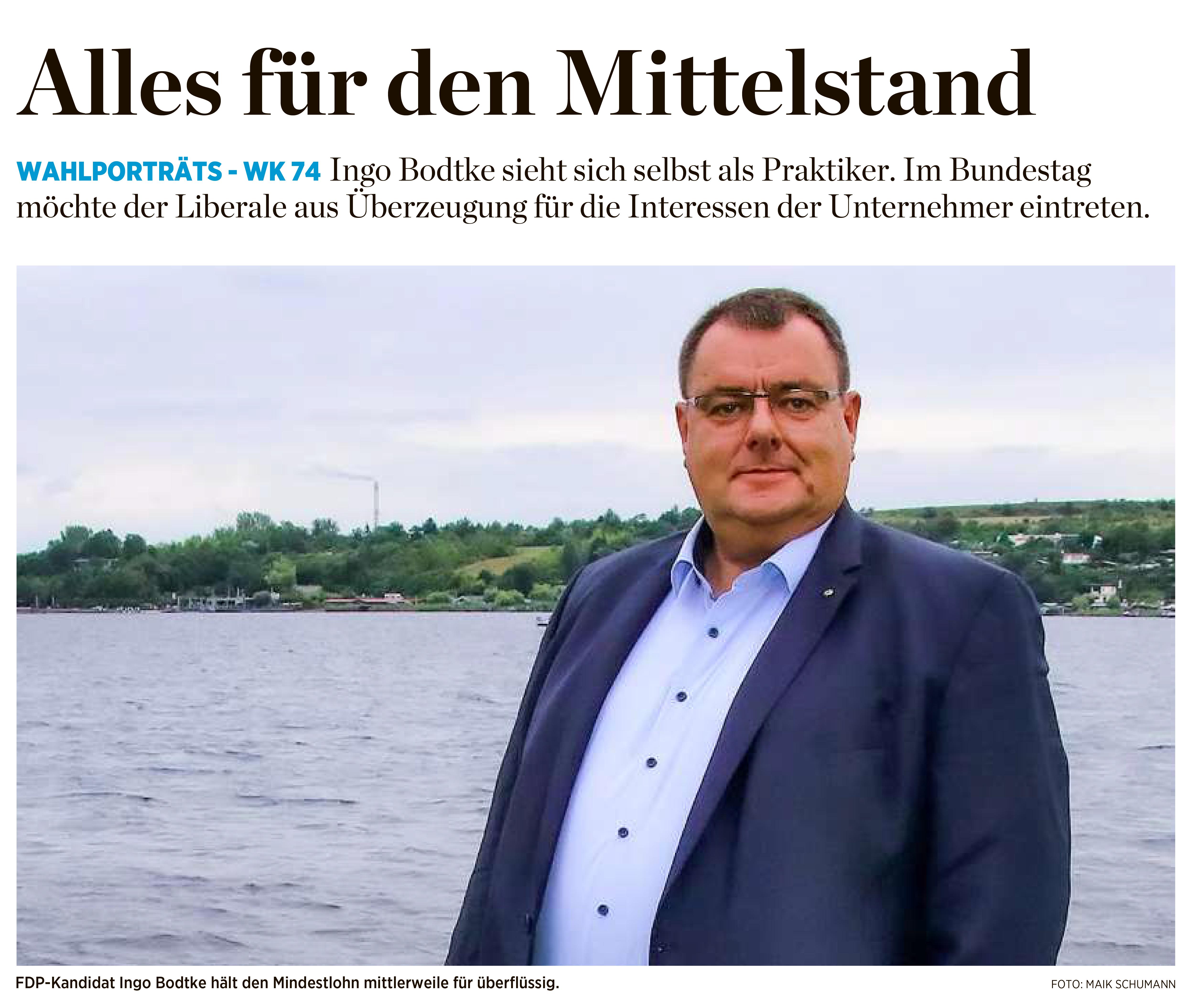 Ingo Bodtke in der Mitteldeutschen Zeitung