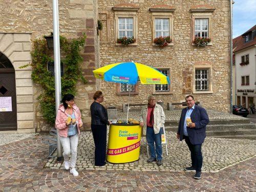 FDP Wahlstand in Querfurt-3