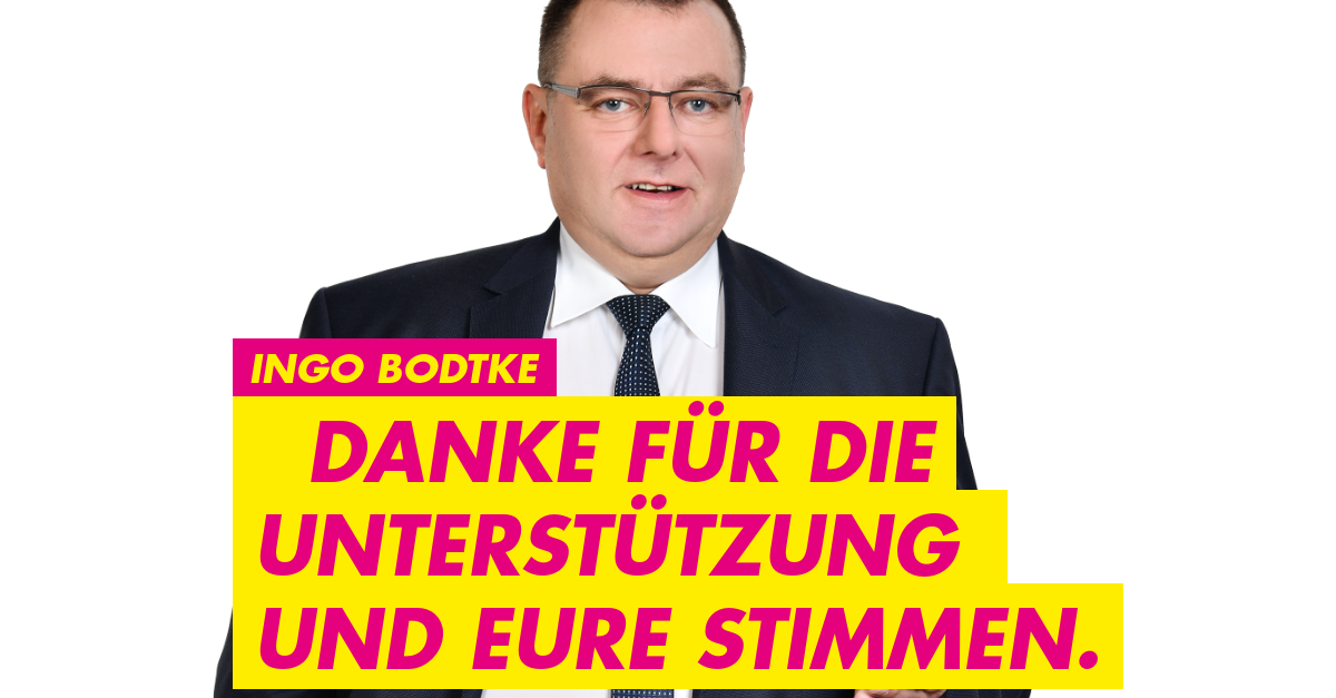 Ingo Bodtke sagt danke
