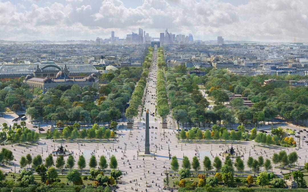 Paradegaten i Paris blir grønn oase