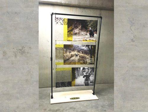 Floor display shopwindow display metaal hout greencasat acrylaat