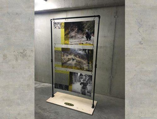 floordisplay window display metal wood greencast acrylic