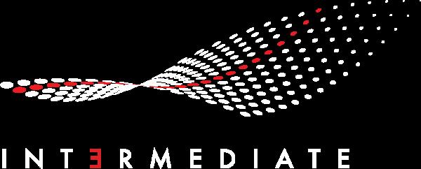 logo intermediate Red and White