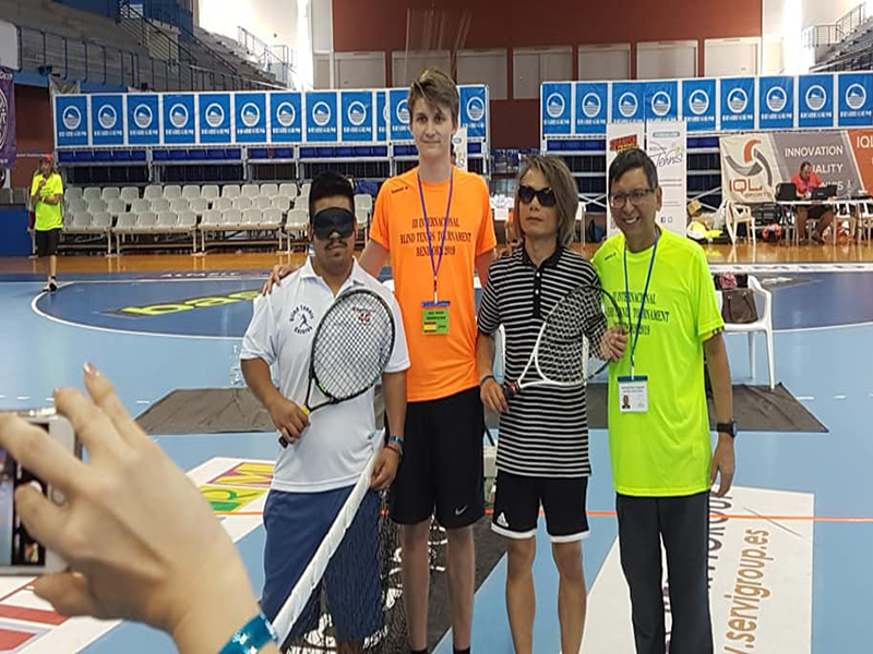 Blind Tennis Players