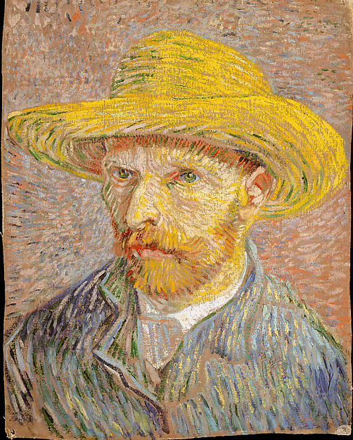 Self-Portrait with a Straw Hat (obverse: The Potato Peeler)