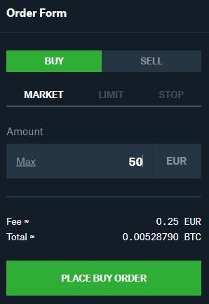 Coinbase Pro buy Bitcoin