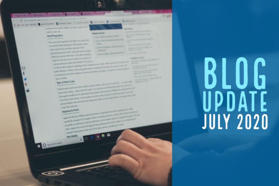 Blog Update - July 2020
