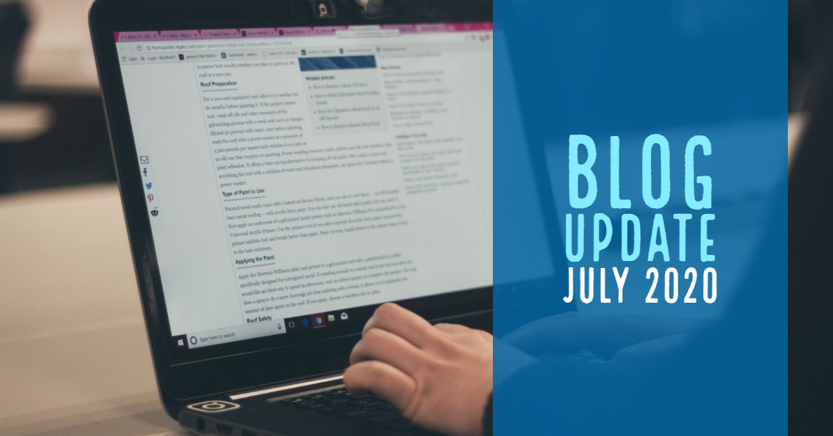 Blog Update - July 2020