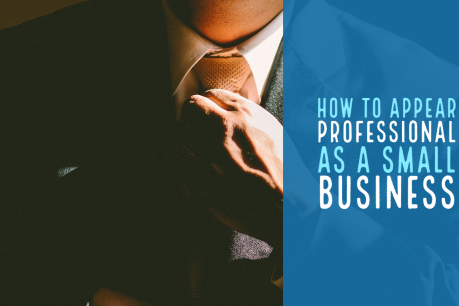 How To Appear Professional As A Small Business