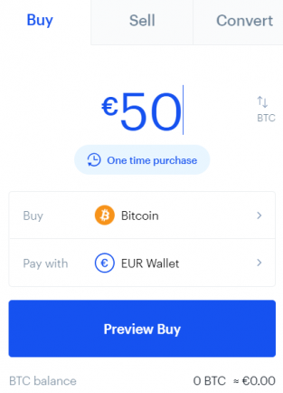 Coinbase buy Bitcoin