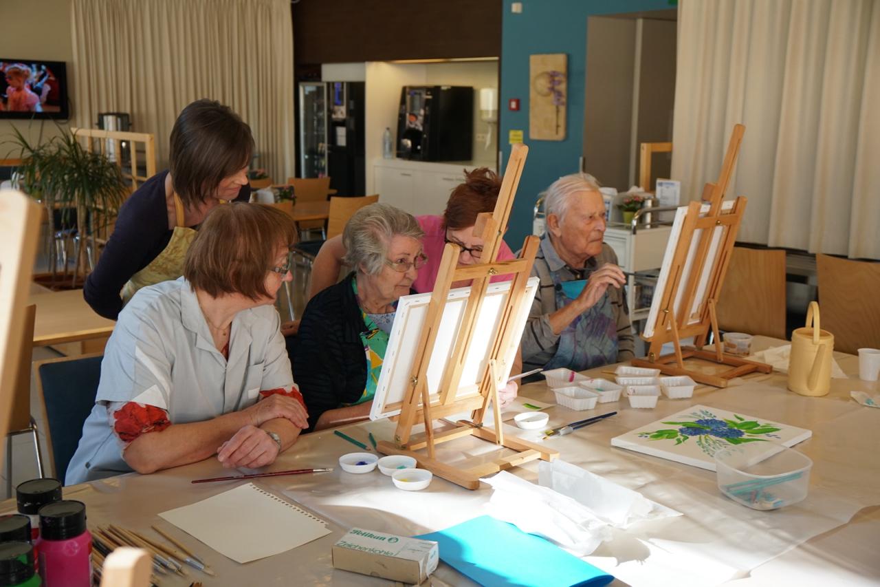 Workshop schilderen met senioren