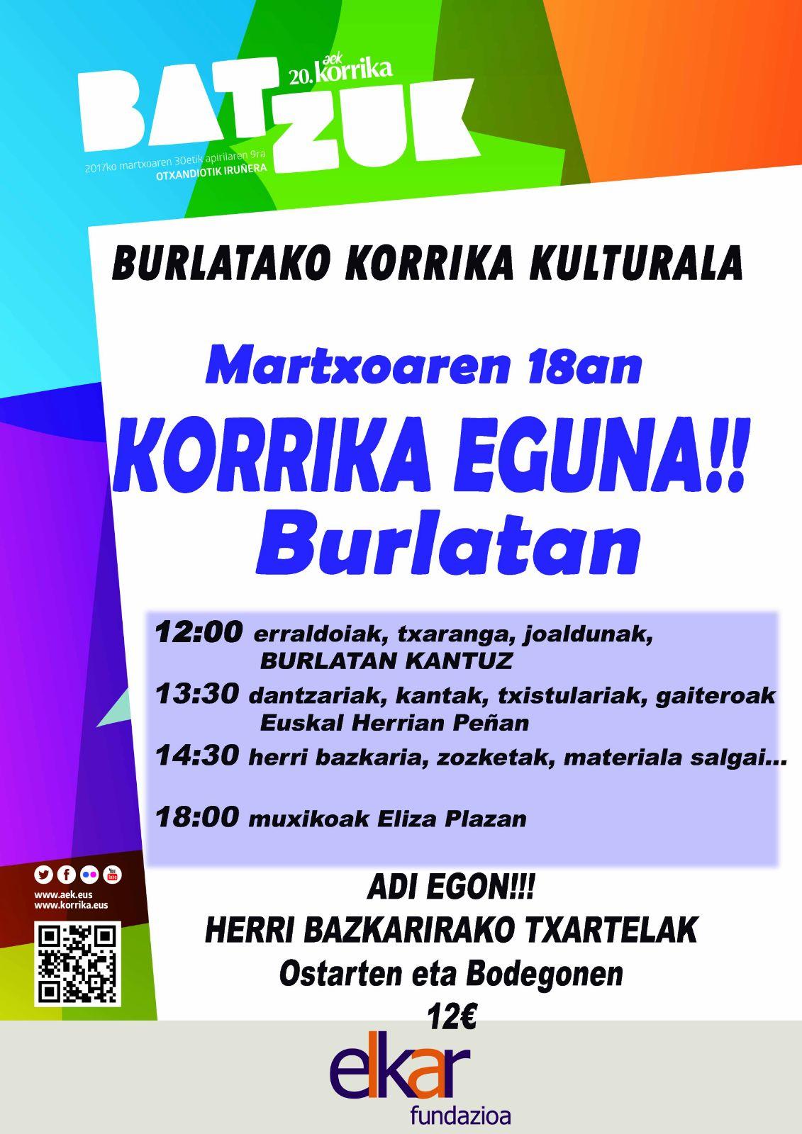 Burlatako Korrika Kulturala @ Burlata