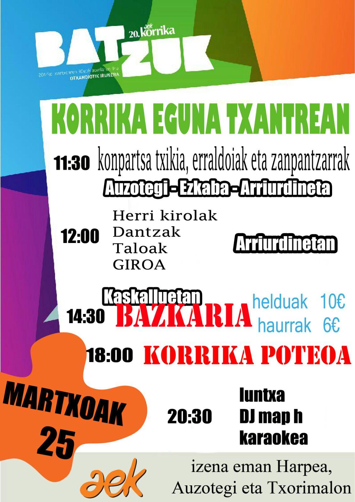 Txantrea. Korrika Kulturala @ Txantrea