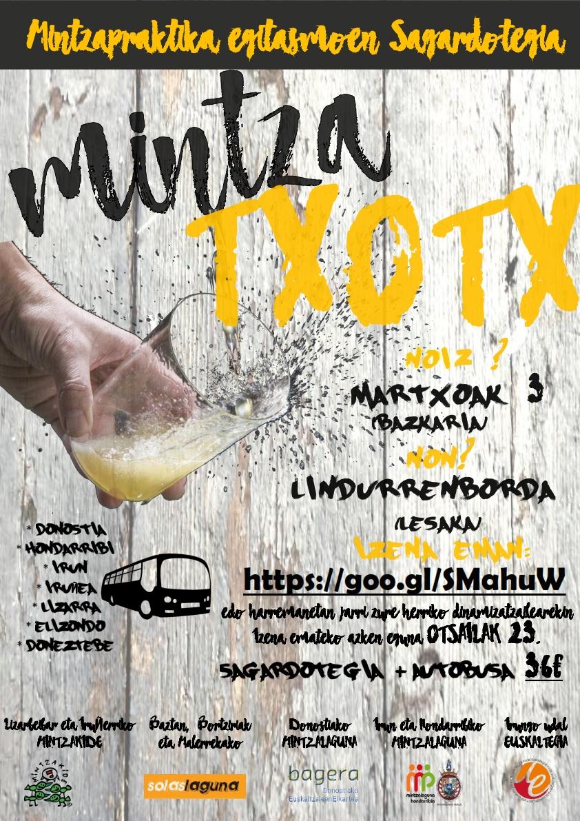Mintza-txotx!, Nafarroa eta Gipuzkoako Mintzapraktika egitasmoen sagardotegia.