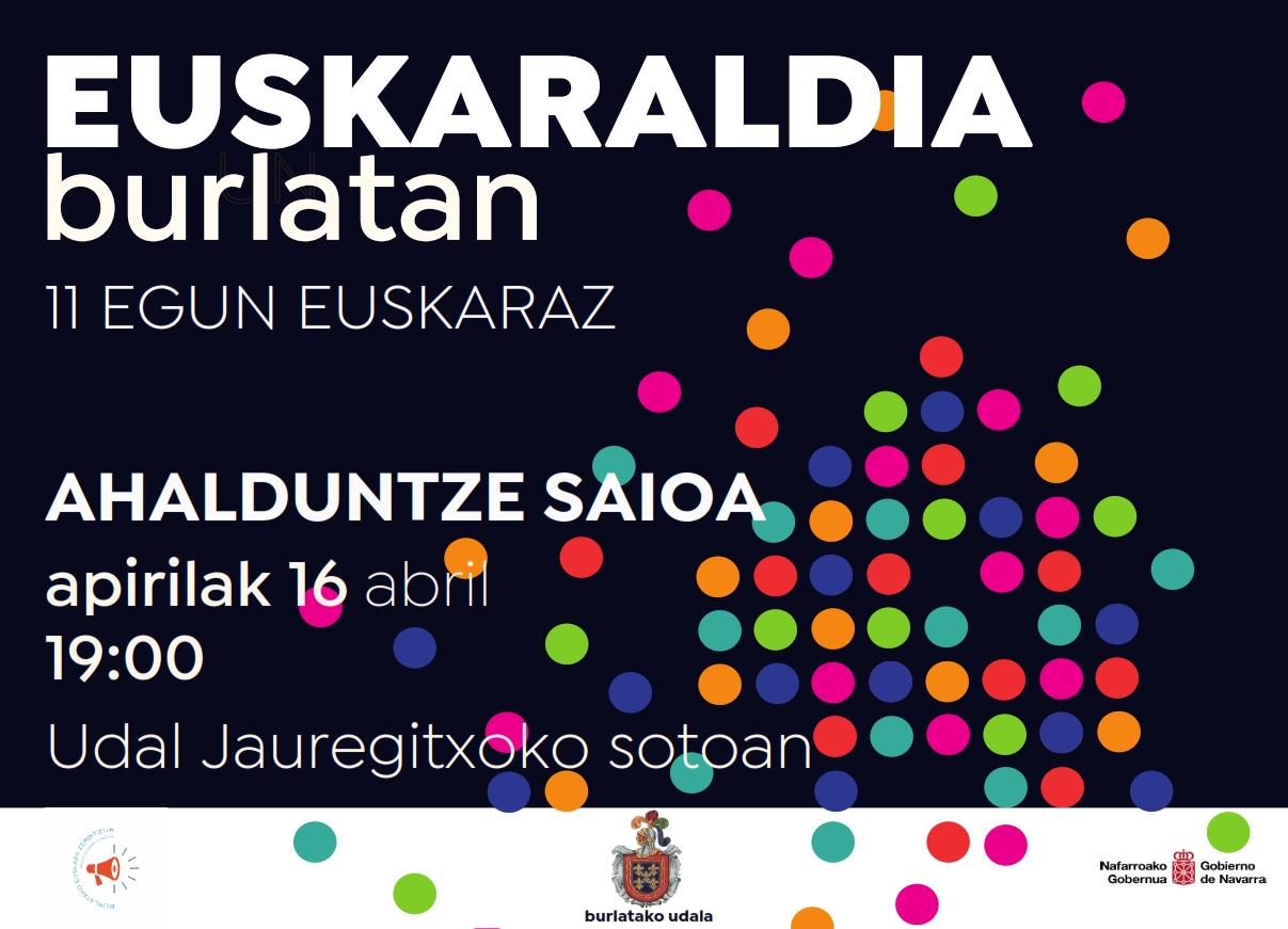 Euskaraldia Burlatan.  11 egun Euskaraz. Ahalduntze Saioak @ Euskalerria Peña. Burlata
